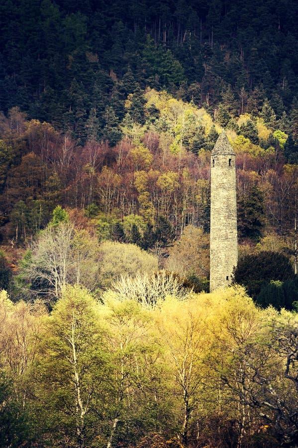 jesień glendalough wiosna czas wierza obrazy royalty free