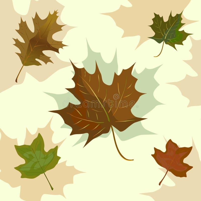 jesień grupy liść ilustracji
