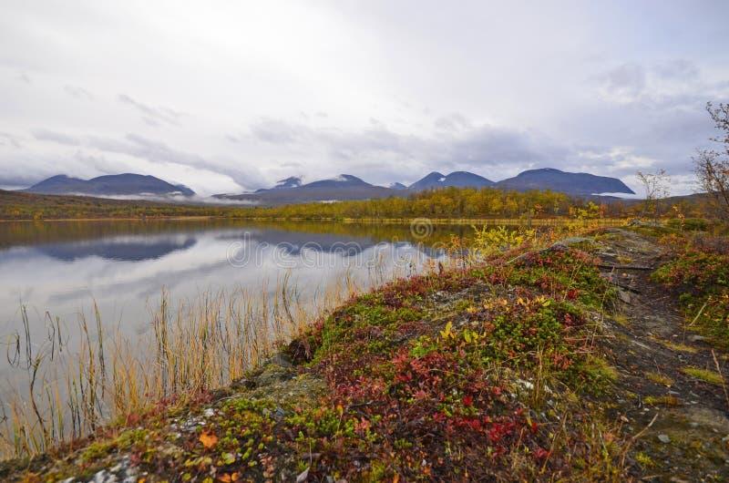 Jesień jeziora sceneria zdjęcia royalty free
