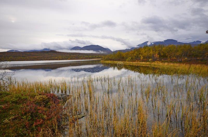 Jesień jeziora sceneria obraz stock