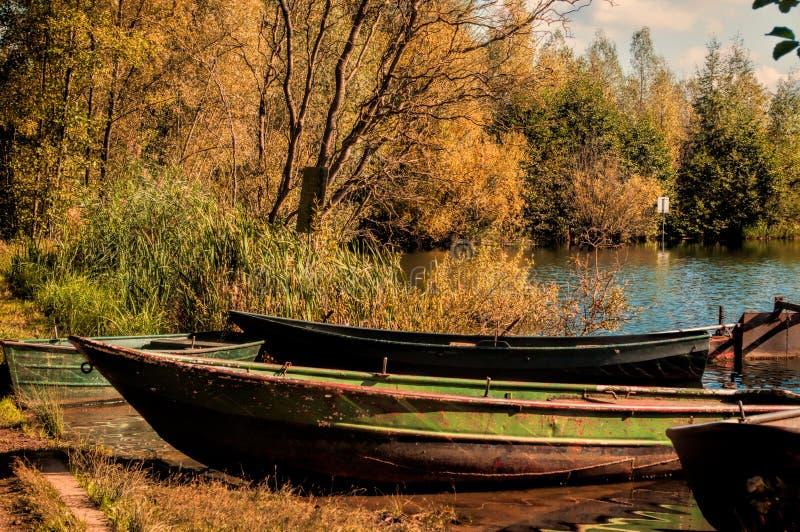 Jesień jezioro zdjęcie stock