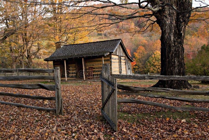 jesień kabiny ogrodzenia beli poręcz fotografia royalty free