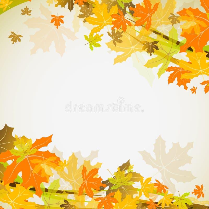 Jesień klonowy tło, wektor ilustracji