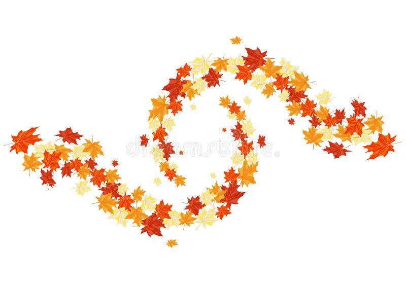 Jesień klony ilustracji