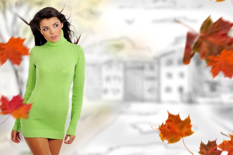 jesień kobieta obraz stock
