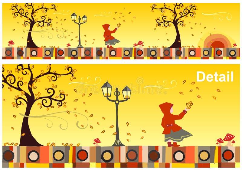 jesień kolekci sezony ilustracja wektor