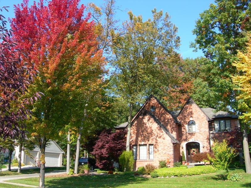 jesień kolorów dom zdjęcie royalty free