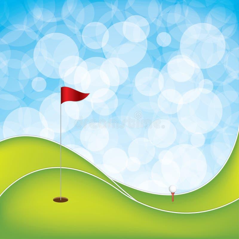 jesień kolorów pola flaga golfa piaska drzewa ilustracja wektor