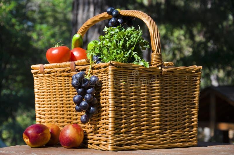 jesień koszykowy owoc pinkin obraz stock