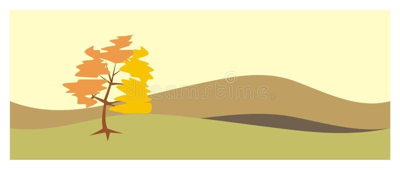 jesień krajobraz ilustracja wektor
