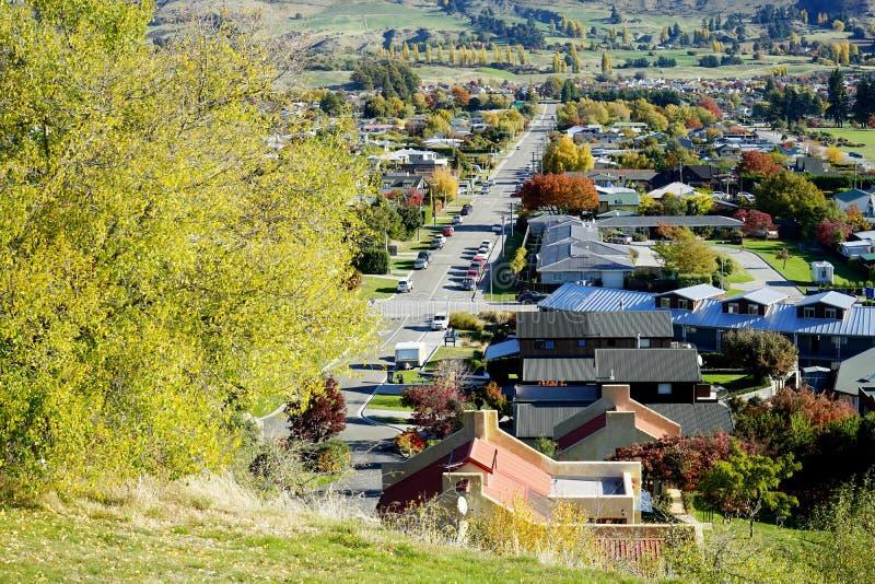 Jesień krajobraz Arrowtown obrazy royalty free