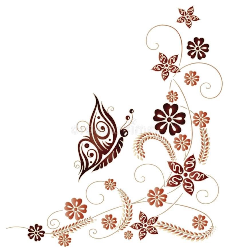 Jesień kwiaty, adra royalty ilustracja