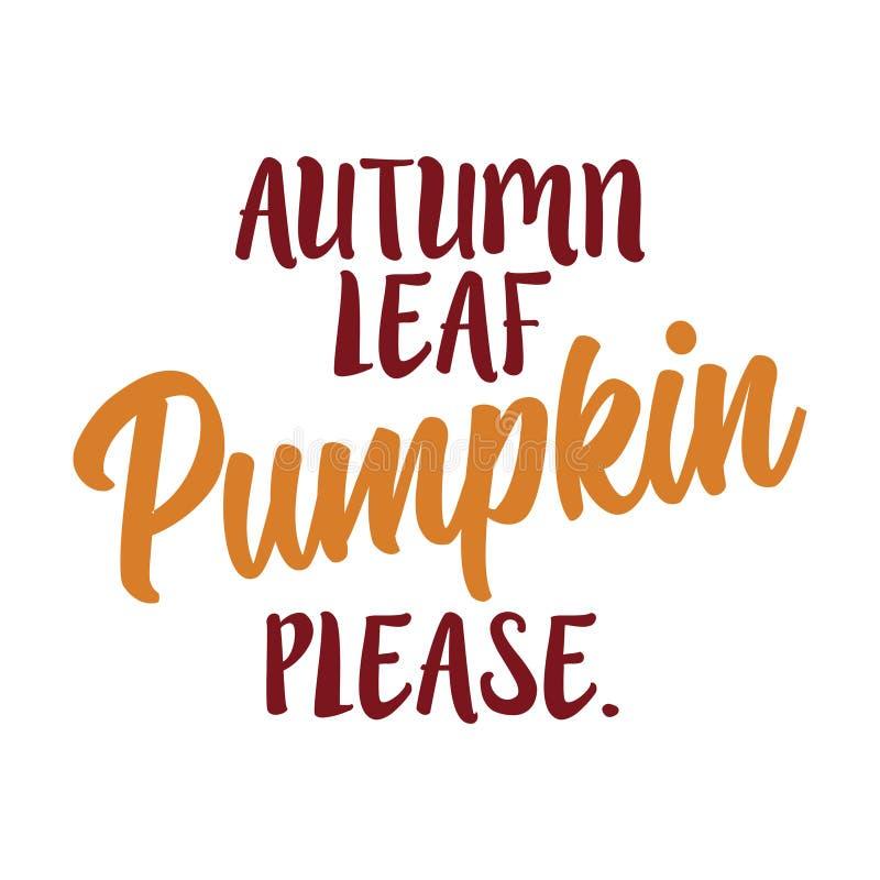 Jesień liść, bania zadawala ilustracji
