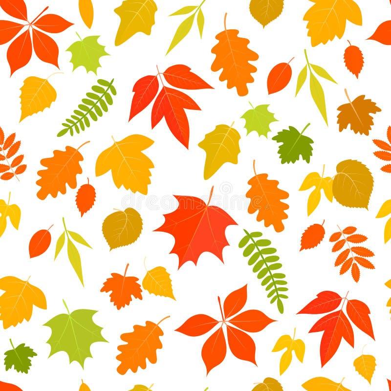 Jesień liść bezszwowy wzór ilustracji