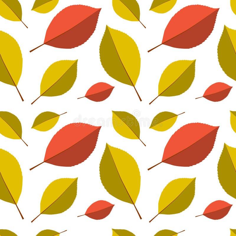jesień liść deseniują bezszwowego royalty ilustracja