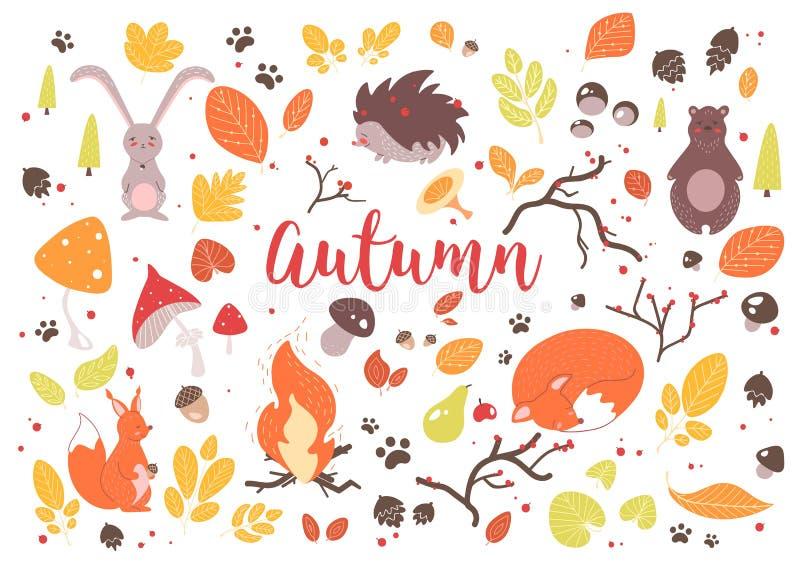 jesień liść inkasowi kolorowi ilustracji