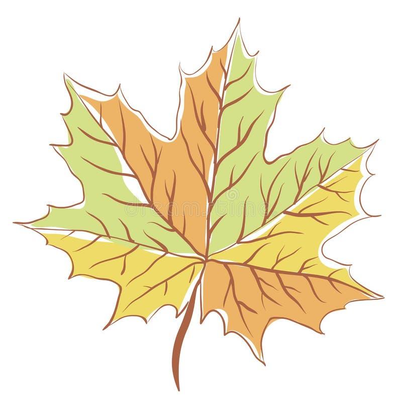 Download Jesień liść klonowy ilustracji. Ilustracja złożonej z liść - 28971725