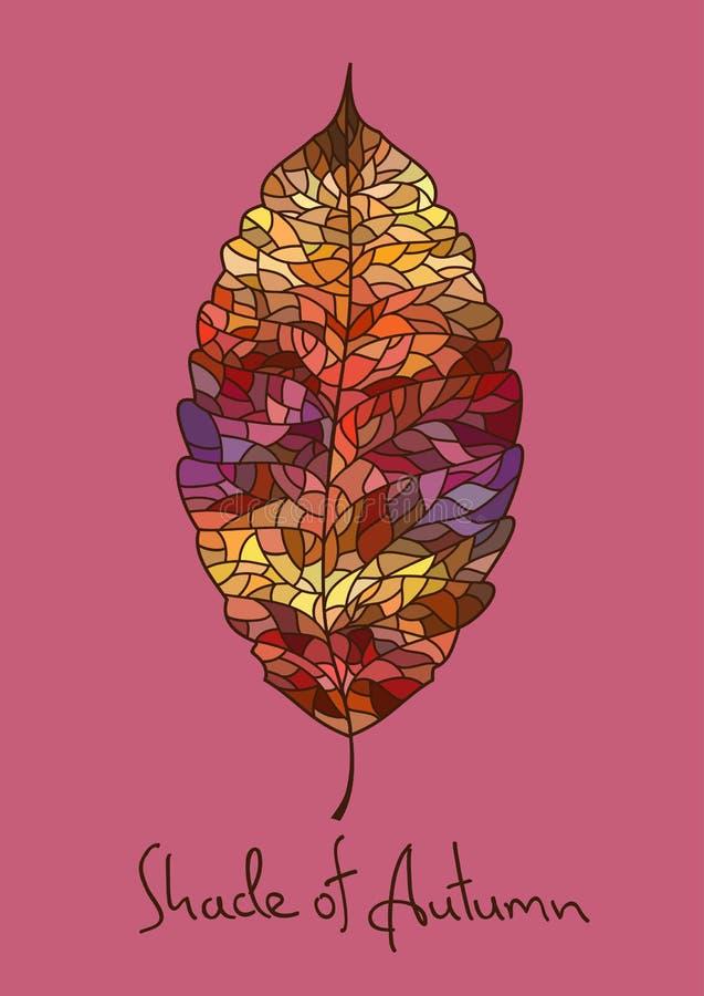 Jesień liść robić mozaika royalty ilustracja