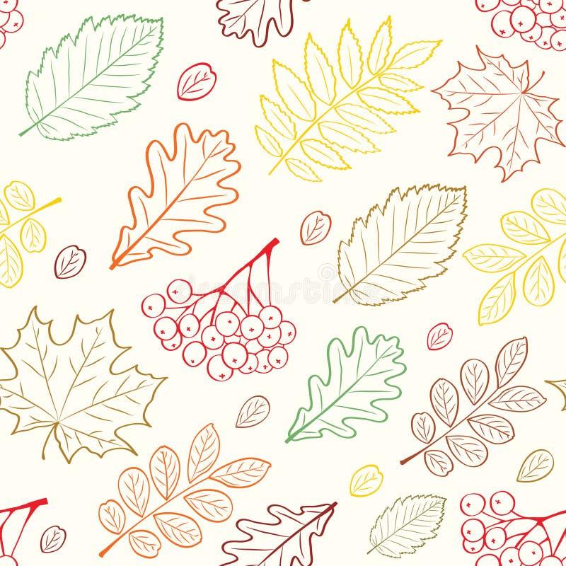 jesień liść wzór bezszwowy ilustracja wektor