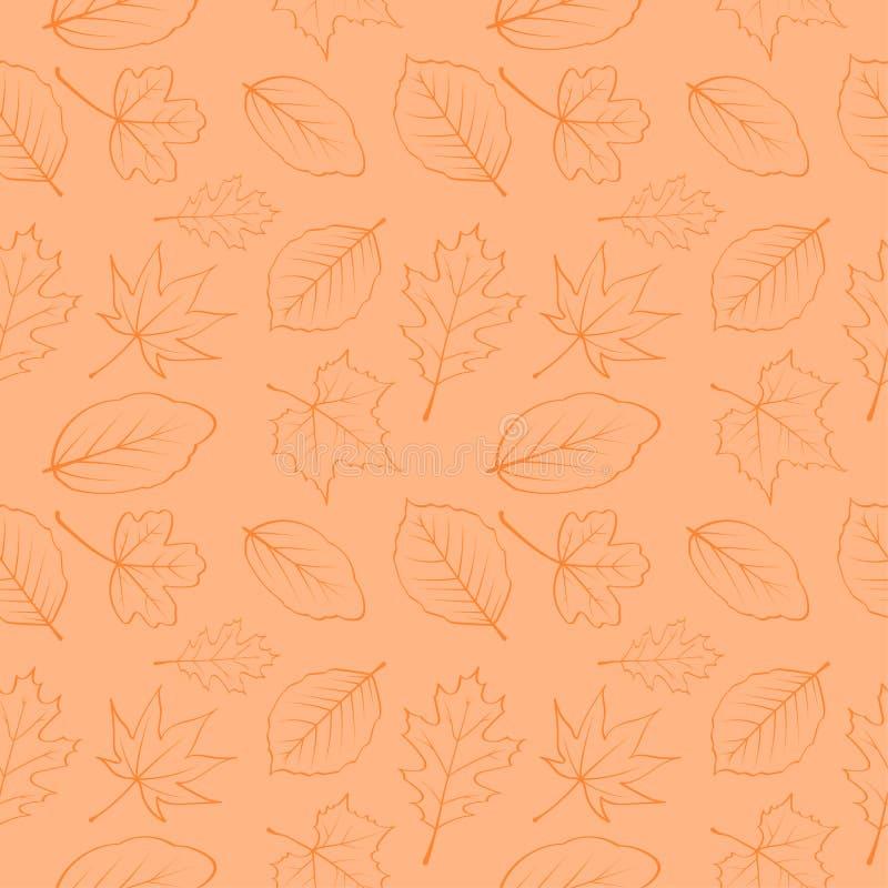 Jesień liści bezszwowy wzór 06 ilustracji