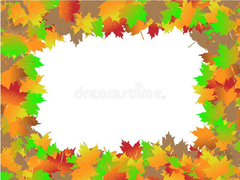 Jesień liści granica obrazy stock