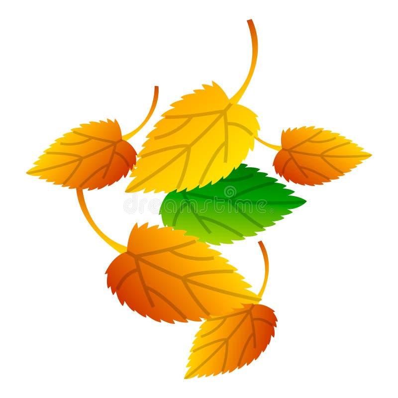 Jesień liści ikona, isometric styl ilustracji