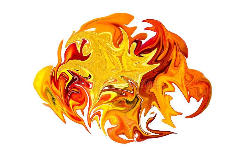 Jesień liści oparzenie abstrakcja obraz royalty free