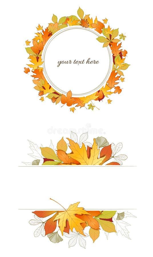 Jesień liści rama ilustracja wektor
