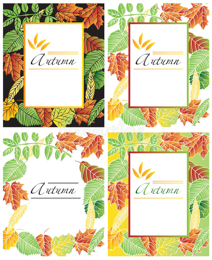 Jesień liści rama royalty ilustracja