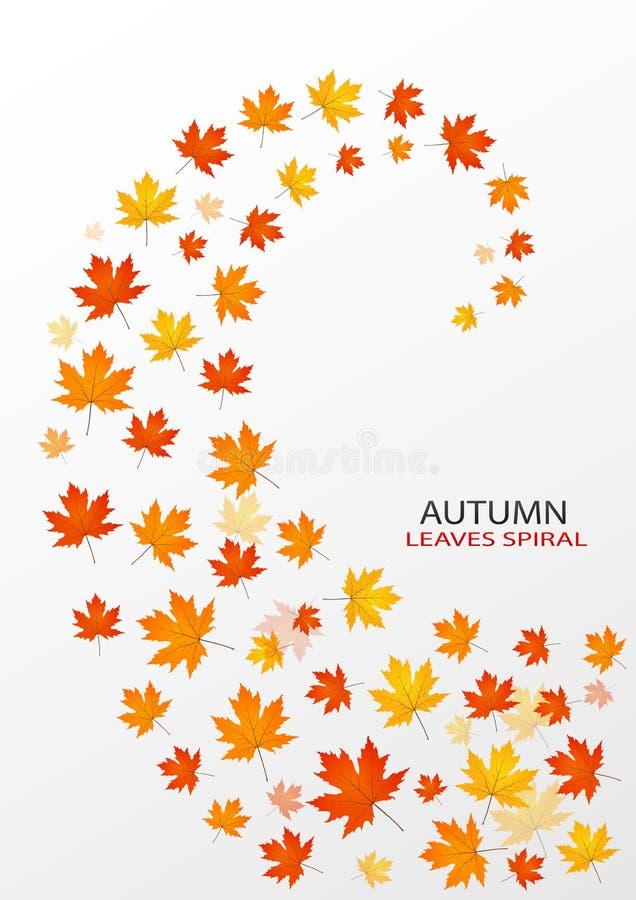 Jesień liści spirala ilustracja wektor