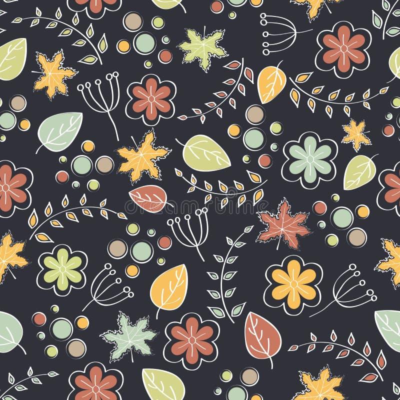 Jesień liści wzoru projekt ilustracja wektor