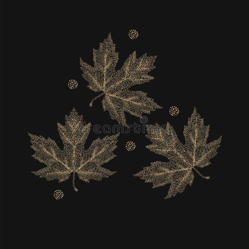 Jesień liście klonowi wykonujący ilustracja wektor