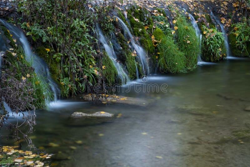 Jesień liście w Watermill, rzeczny Vinalopo zdjęcie royalty free