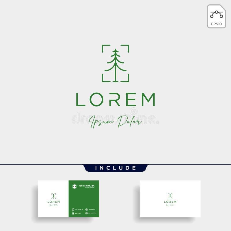jesień logo projekta natury wektoru drzewna ilustracja ilustracji
