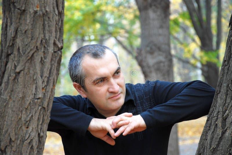 jesień mężczyzna portret fotografia royalty free