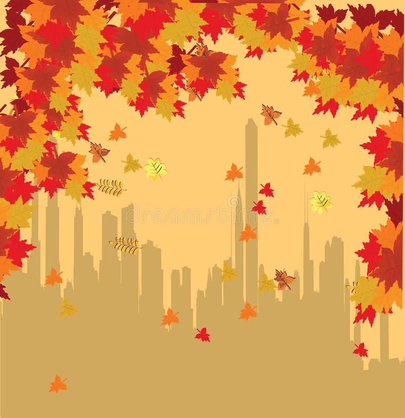 jesień miasto ilustracja wektor