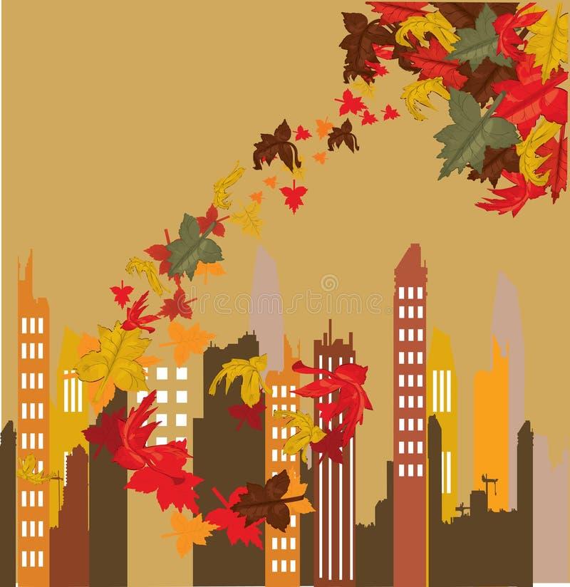 jesień miasto royalty ilustracja