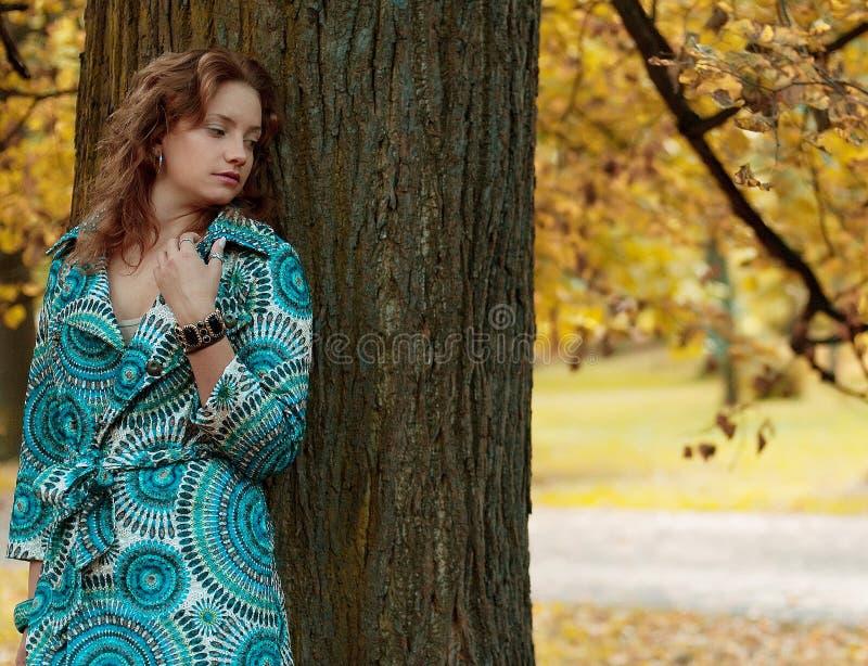 jesień mody parka kobieta obrazy stock