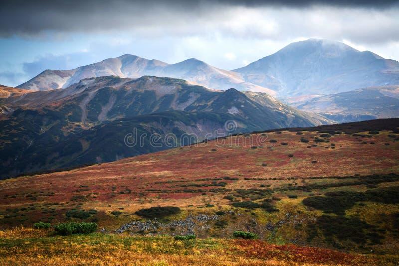 Jesień Mutnovka, Kamchatka fotografia stock