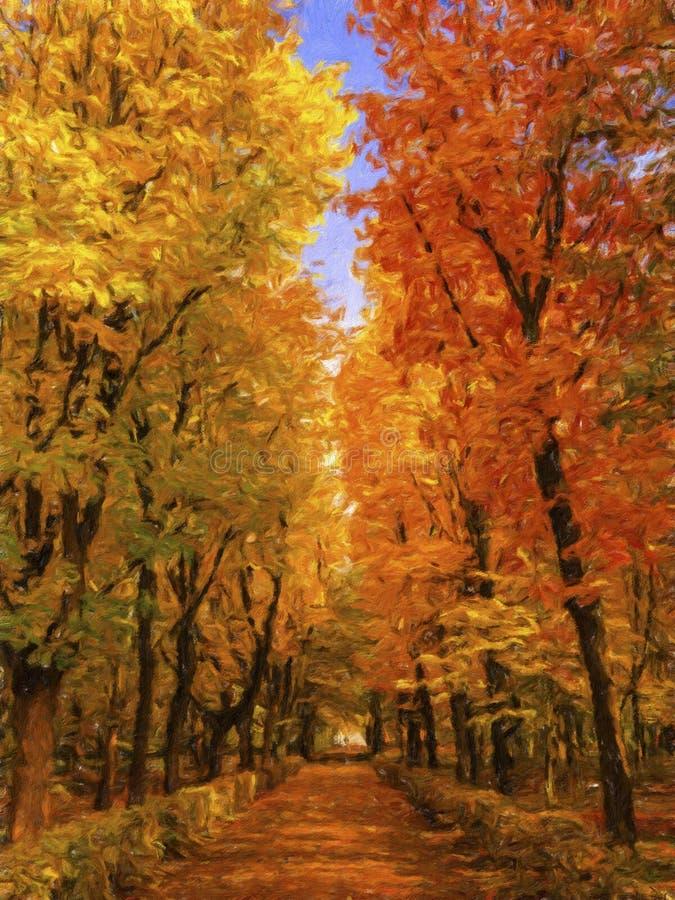 Jesień obraz zdjęcie stock