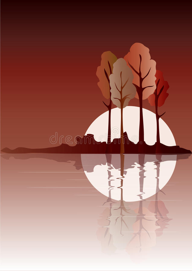jesień odbijająca ilustracji