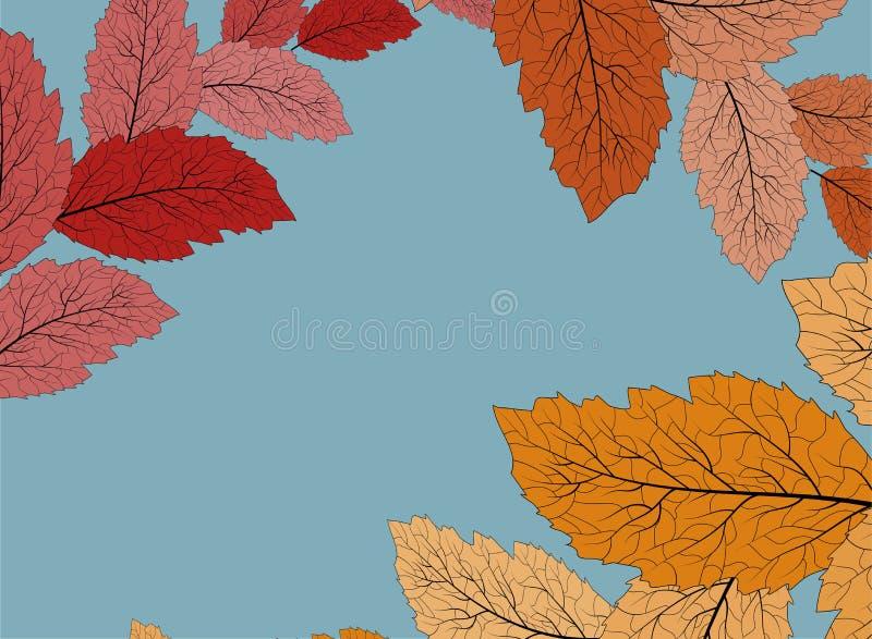 Jesień opuszcza tło, doskonały projekt do wszelkich celów Wzorzec z czerwonymi liśćmi jesiennymi na tle do projektowania tapety ilustracja wektor