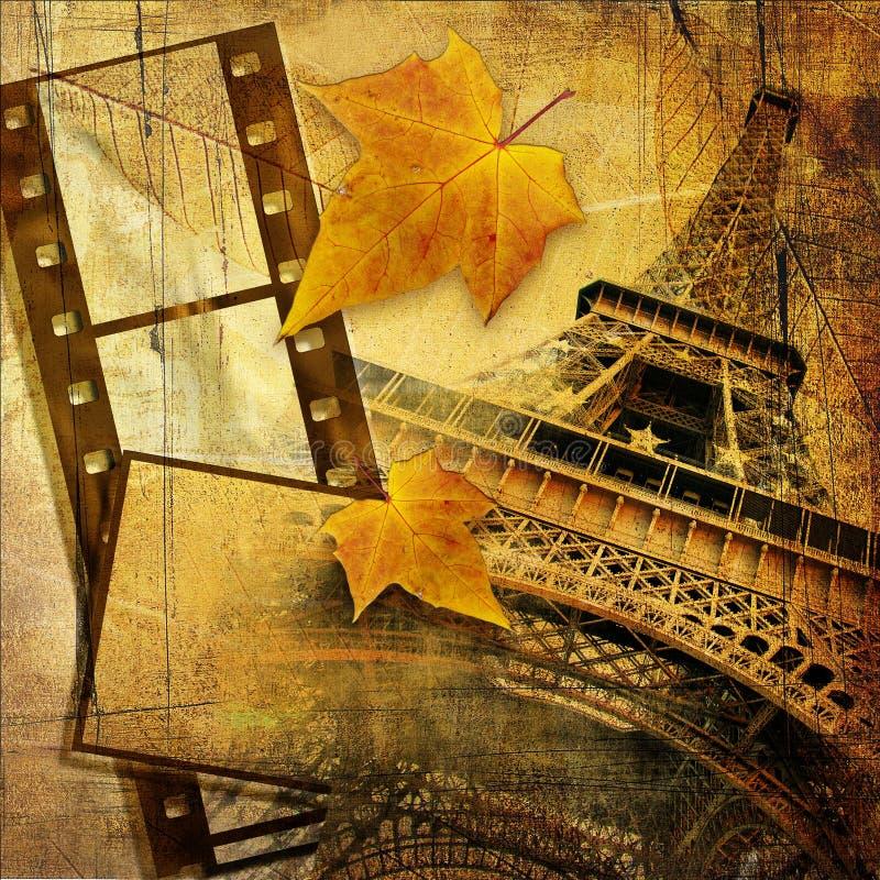 jesień Paris ilustracji