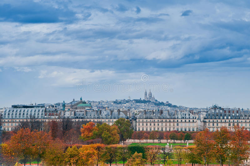 jesień Paris obrazy royalty free
