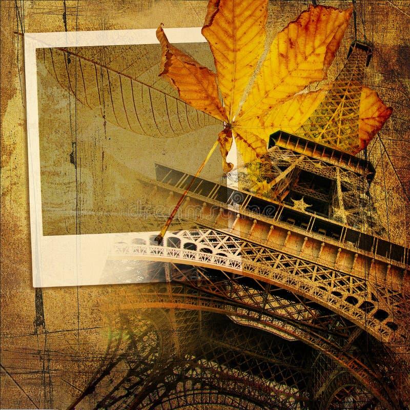 jesień Paris royalty ilustracja
