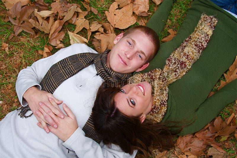 jesień pary fotografia stock
