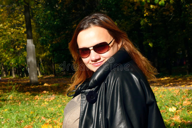 Jesień portret dziewczyna fotografia stock
