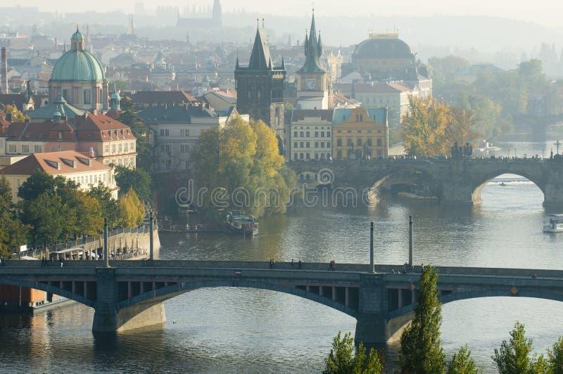 Jesień Praga obraz royalty free