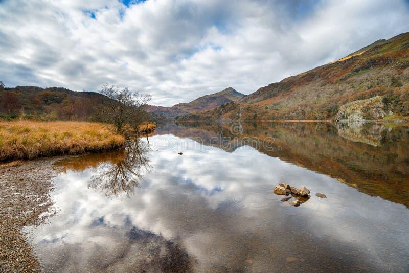 Jesień przy Llyn Gwynant obrazy royalty free