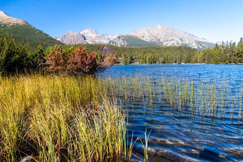 Jesień przy Strbske Tarn, Wysokie Tatras góry, Sistani fotografia stock